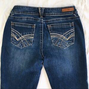 Wallflower Distressed Blue Stretch Jeans Skinny